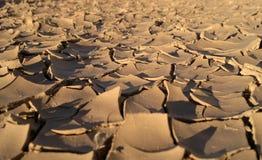 Tierra agrietada Foto de archivo libre de regalías