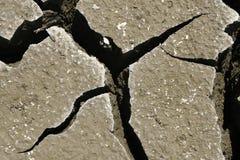 Tierra agrietada abstracta. Concepto del calentamiento del planeta Foto de archivo