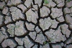 Tierra agrietada de la sequía Fotografía de archivo