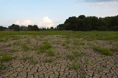 Tierra agrietada de la sequía Fotografía de archivo libre de regalías