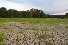 Tierra agrietada de la sequía Fotos de archivo libres de regalías
