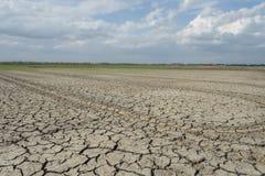 Tierra agrietada del suelo Foto de archivo