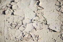 Tierra agrietada en los Badlands Imagen de archivo