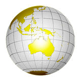 Tierra aislada 3D del globo del planeta Foto de archivo