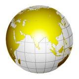 Tierra aislada 3D del globo del planeta Foto de archivo libre de regalías