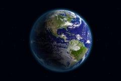 Tierra - América y nubes Imagen de archivo libre de regalías