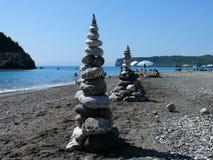 Tierra-arte en la playa en Calabria Fotografía de archivo libre de regalías