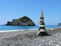 Tierra-arte en la playa en Calabria Imagen de archivo