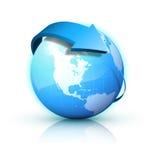 Tierra azul Ilustración del Vector