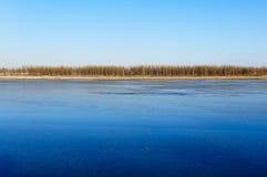 Tierra azul del hielo Fotos de archivo