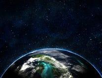 Tierra azul en espacio Fotos de archivo