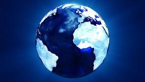 Tierra azul profunda que gira ilustración del vector