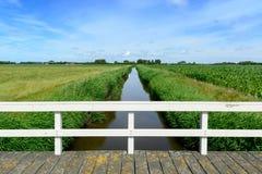 Tierra baja alrededor de Domburg en Holanda Imágenes de archivo libres de regalías