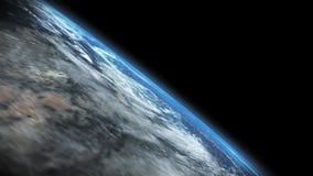 Tierra - cantidad hermosa del espacio exterior de la tierra del planeta almacen de metraje de vídeo