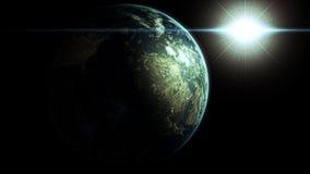 Tierra con el sol Imagen de archivo libre de regalías