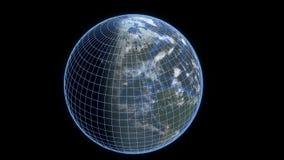 Tierra con el wireframe Fotos de archivo