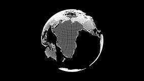 Tierra con los puntos y las líneas de conexión ilustración del vector
