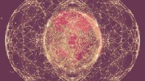 Tierra con los puntos y las líneas de conexión poligonales libre illustration