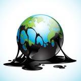 Tierra cubierta con aceite ilustración del vector