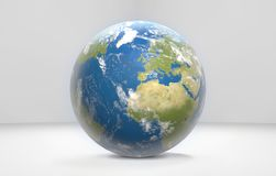 Tierra 3d-illustration mundial del planeta Imagenes de archivo