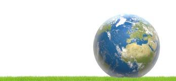 Tierra 3d-illustration mundial del planeta Imagen de archivo