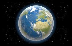 Tierra 3d-illustration mundial del planeta Imagen de archivo libre de regalías