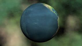 Tierra de colocación inconsútil - 3D rinden metrajes