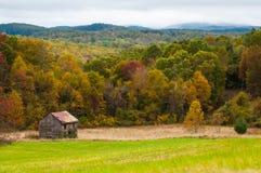 Tierra de cultivo de la montaña en las montañas de Virginia Fotografía de archivo libre de regalías