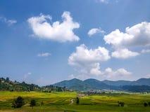 Tierra de cultivo en Nepal imagen de archivo libre de regalías
