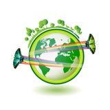 Tierra de Eco Imagen de archivo libre de regalías