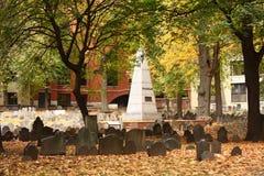 Tierra de entierro del granero, Boston foto de archivo