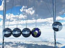 Tierra de la cuna de los neutonios Fotos de archivo libres de regalías