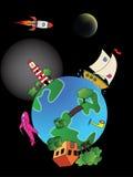 Tierra de la historieta Imagenes de archivo