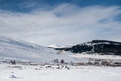 Tierra de la nieve foto de archivo