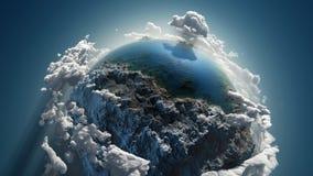 Tierra de la nube en espacio Imagen de archivo libre de regalías