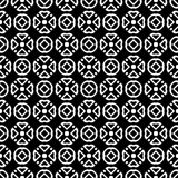 Tierra de la parte posterior del blanco del dezine del negro de Semless Triángulos, extracto Fotos de archivo
