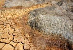 Tierra de la sequía, cambio de clima, verano caliente fotografía de archivo