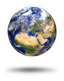 Tierra de mármol azul del planeta Imágenes de archivo libres de regalías