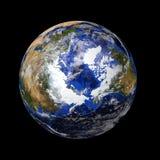 Tierra de mármol azul del planeta fotos de archivo libres de regalías