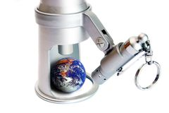 Tierra de observación, ojo en el mundo Fotografía de archivo libre de regalías