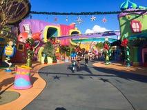 Tierra de Seuss en los estudios universales en Orlando, FL fotos de archivo