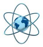 Tierra del átomo stock de ilustración