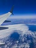 Tierra del avión Fotografía de archivo libre de regalías