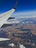 Tierra del avión Fotos de archivo libres de regalías