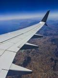 Tierra del avión Fotografía de archivo