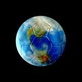 Tierra del balompié de cuero Fotos de archivo