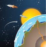 Tierra del corte transversal del vector ilustración del vector