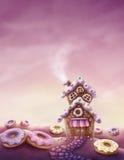 Tierra del dulce de la fantasía ilustración del vector