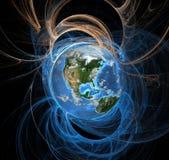 Tierra del eclipse de la aureola de la energía del oeste stock de ilustración
