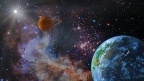 Tierra del espacio stock de ilustración